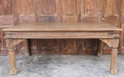 Antique Thakat Dining Table with Mehrab Arch Detail <b>SOLD<b>